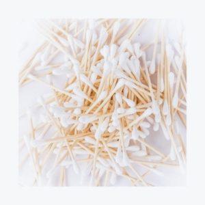 Økologiske bambus vatpinde
